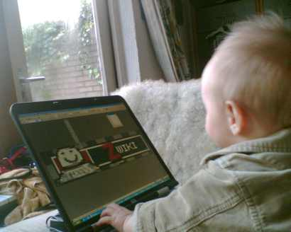 Teaching my youngest son the merits of ZWiki